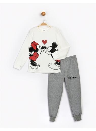Minnie Mouse  Çocuk Takım 17112 Ekru
